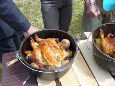 体験教室 ダッジオーブン料理 スタッフドチキン