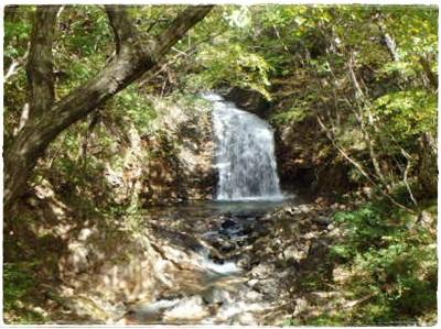 龍王峡竪琴の滝
