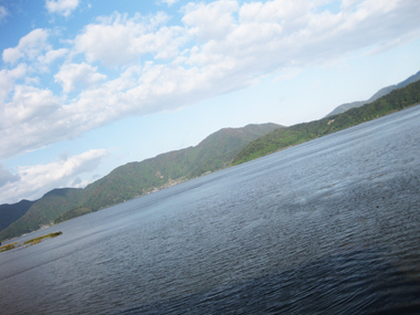 湖畔の素晴らしい景色