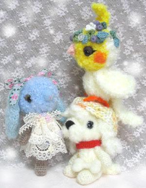 ふわふわ毛糸の編みぐるみ