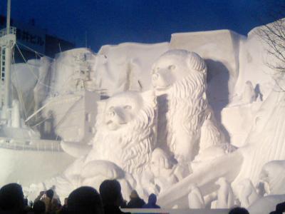 2007雪祭りタロ&ジロ