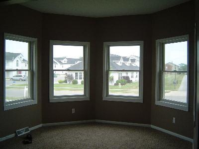 リビングの出窓がかわいい