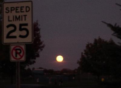 the harvest moon in Michigan