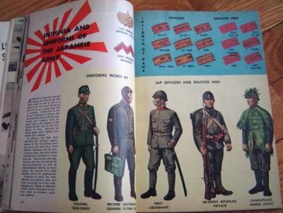 日本軍の制服を取上げている