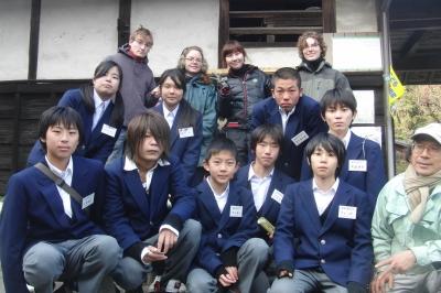 長尾中学校の生徒さん農業体験メンバー
