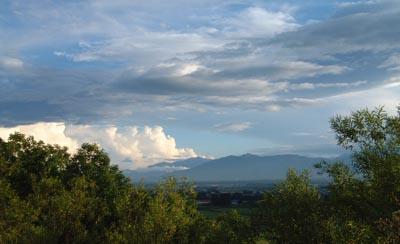 美蔓の展望台の雲
