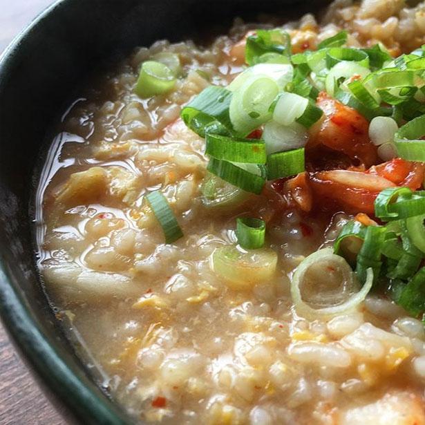 玄米キムチ雑炊