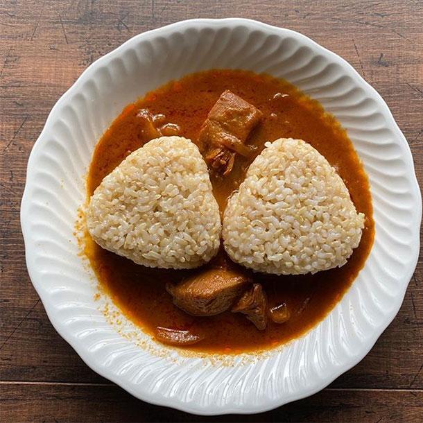 久々の玄米おむすび_1