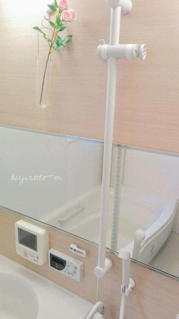 ダイソーの「強力レバー式吸盤 シャワーホルダー」、違和感なし