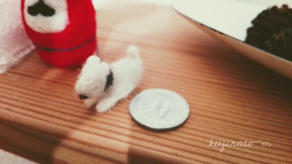 初めての羊毛フェルト、犬の小さなサイズに苦戦