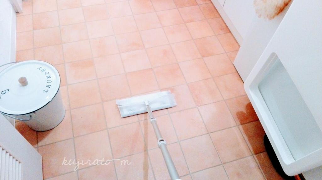 洗面所は毎日フローリングワイパーで、ささっと掃除