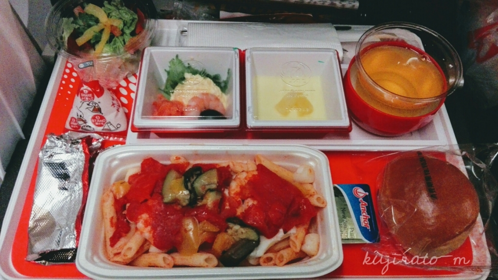JALハワイ便の機内食