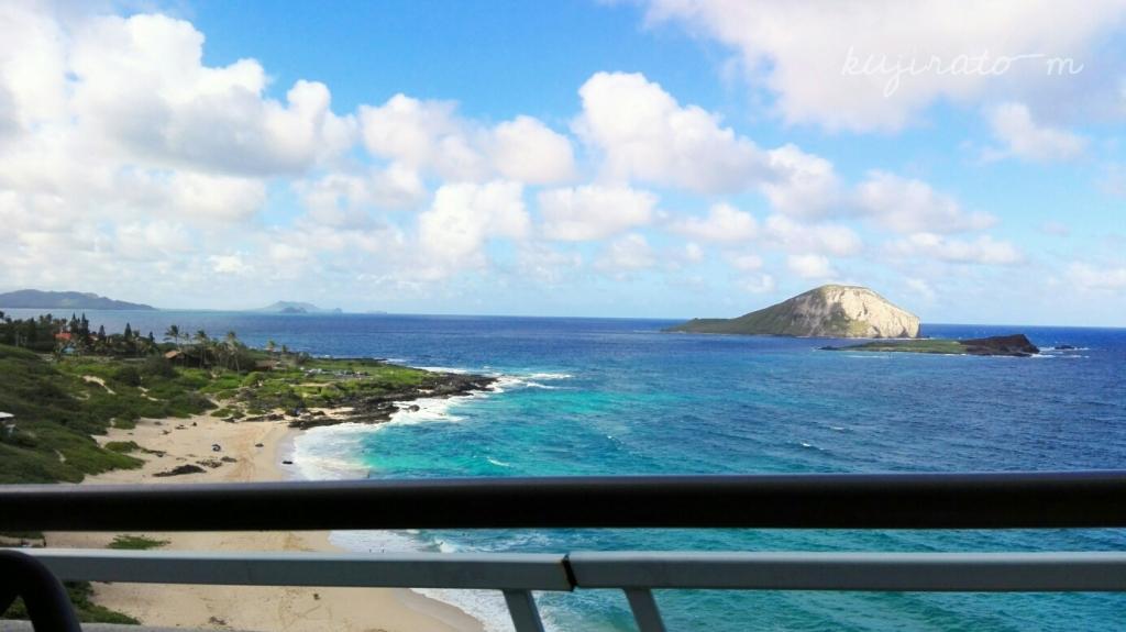 イーストコーストライン、観光トロリーバスから見えたハワイの海の景色