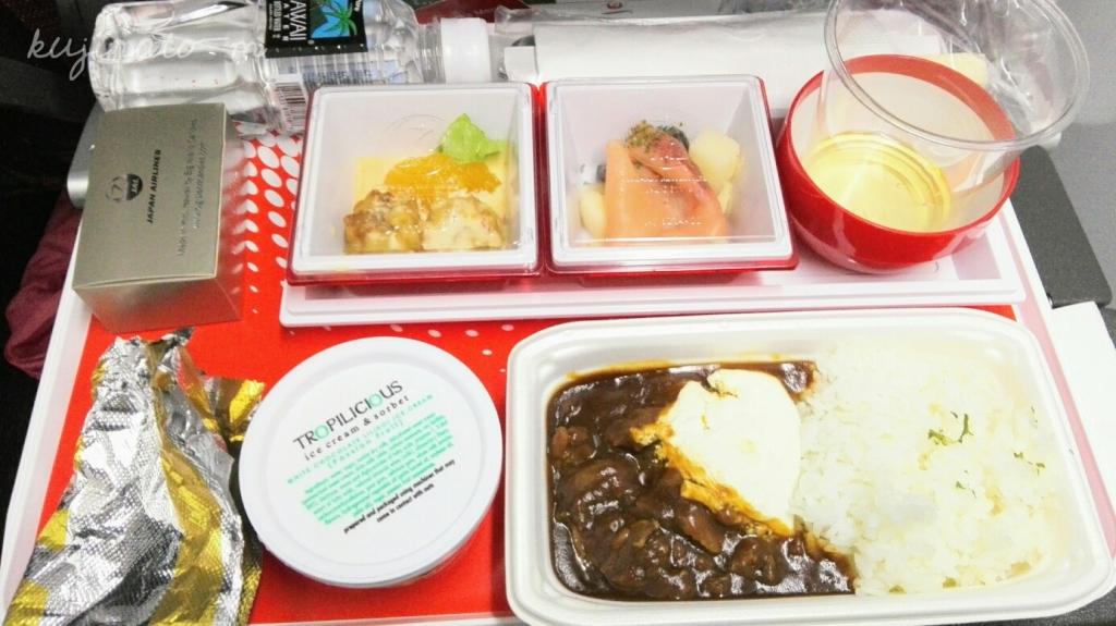 ハワイからの帰りのJAL機内食、今までで一番美味しかった