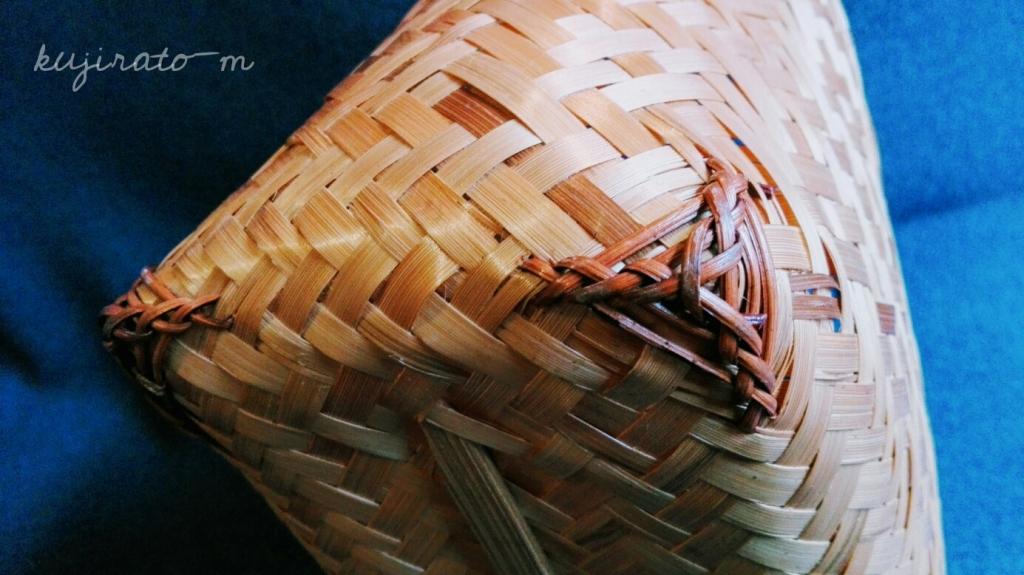 伊勢神宮おはらい町で買った、竹のかご、お手頃価格なのに丁寧でしっかりした作り