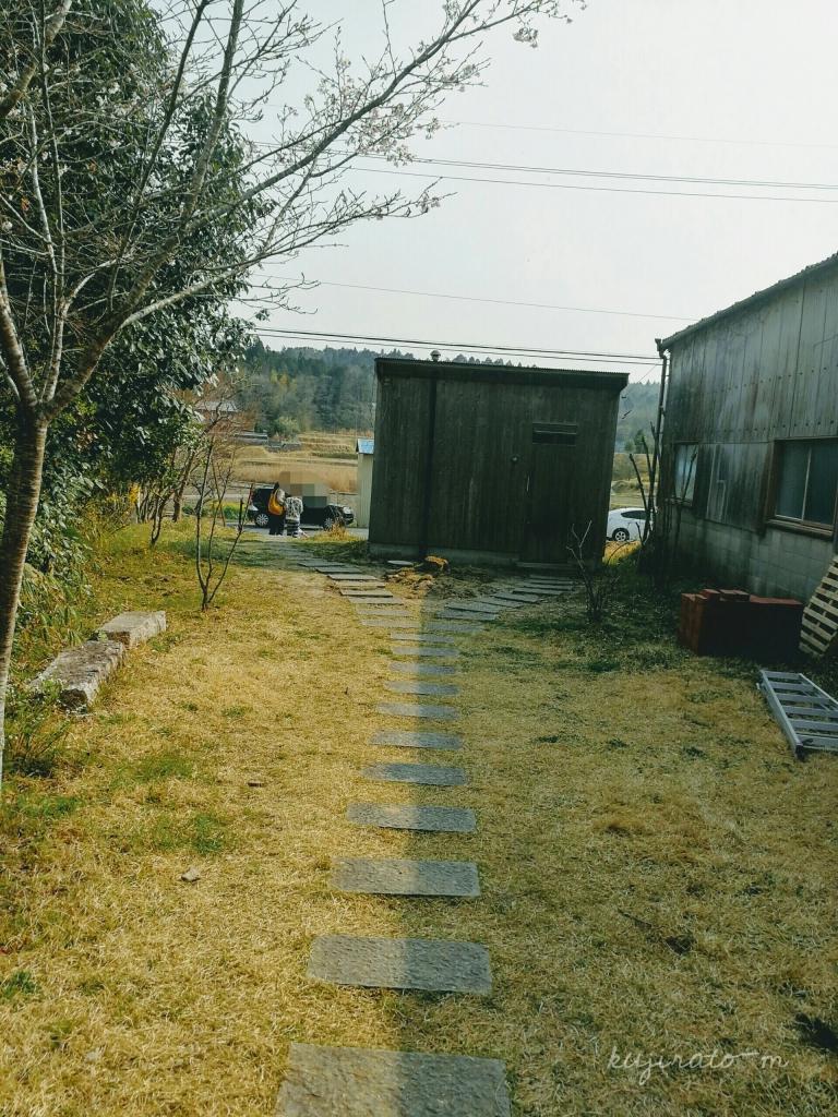 三重県伊賀市丸柱にあるオシャレカフェ『cafe noka』の、トイレの建物