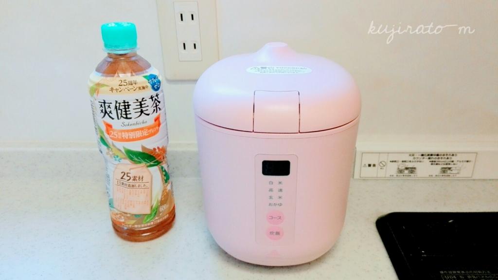 本当に小さく、シンプルで可愛い神明コンパクト炊飯器poddi