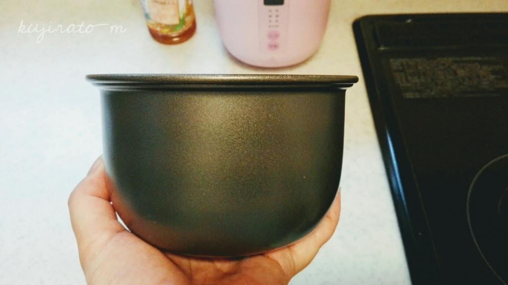 神明コンパクト炊飯器poddiのお釜、手のひらサイズ
