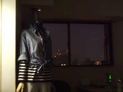 夜景とトルソー