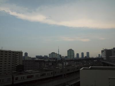 嵐の東京下