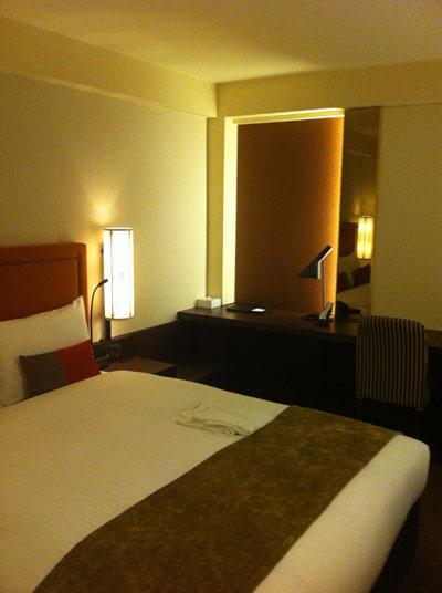 ホテルの中