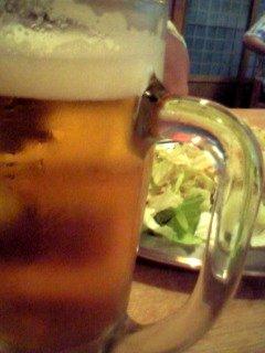ビールにキャベツ