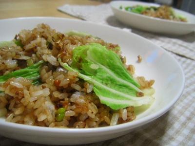 納豆と白菜チャーハン