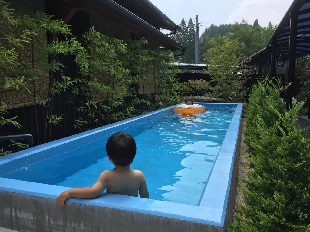 温水プール開きしました