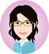 お絵かきママの自画像イラスト