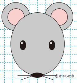 ネズミ(動物のイラスト)完成01