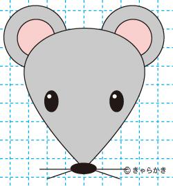ネズミ(動物のイラスト)完成02