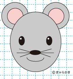 ネズミ(動物のイラスト)完成03