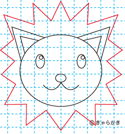 動物ライオン イラストの描き方08