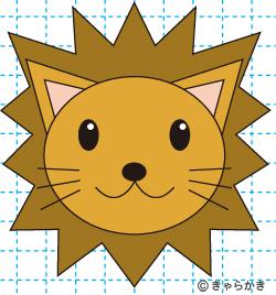 動物ライオン イラストの描き方 完成