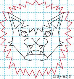 動物ライオン イラストの描き方 中級編11
