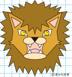 動物ライオン イラストの描き方 中級編 完成