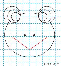 動物イラスト カエルのイラストの描き方06