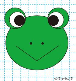 動物イラスト カエルのイラストの描き方 完成01