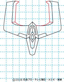 仮面ライダーキバ ライジングイクサ イラストの描き方 05