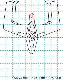 仮面ライダーキバ ライジングイクサ イラストの描き方 06