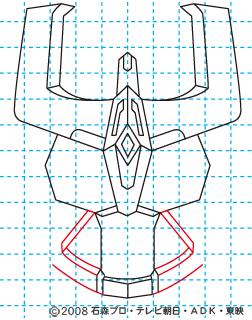 仮面ライダーキバ ライジングイクサ イラストの描き方 10