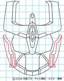 仮面ライダーキバ ライジングイクサ イラストの描き方 11