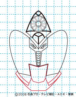 仮面ライダーキバ サガ イラストの描き方08