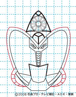 仮面ライダーキバ サガ イラストの描き方09