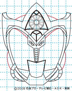 仮面ライダーキバ サガ イラストの描き方11