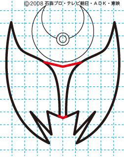 仮面ライダーキバ キバ エンペラーフォーム イラストの描き方 Illustrator作成04