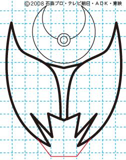 仮面ライダーキバ キバ エンペラーフォーム イラストの描き方 Illustrator作成05