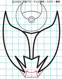 仮面ライダーキバ キバ エンペラーフォーム イラストの描き方 Illustrator作成06