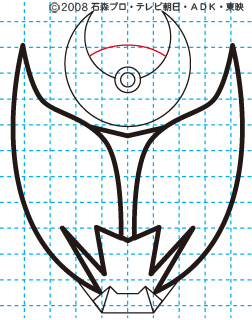 仮面ライダーキバ キバ エンペラーフォーム イラストの描き方 Illustrator作成07