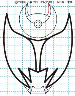 仮面ライダーキバ キバ エンペラーフォーム イラストの描き方 Illustrator作成08